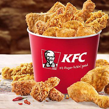 Bucket to go (4x Filet Bites, 6x Hot Wings, 4x Crispys, 2x Pommes) + neue Gutscheine (bis 07.06.) [KFC]