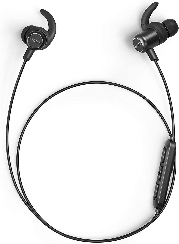 Anker SoundBuds Slim+ Bluetooth Kopfhörer, Upgraded Leichte Stereo Kopfhörer In Ear mit High Resolution HD [Amazon Prime]