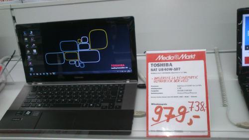 Toshiba Satellite ultrabook u840w-107, i5-3317, 6GB, 21:9 Display,Lokal Media Markt im Nova Eventis