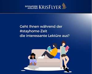 E-Bibliothek Singapore Airlines KRISFLYER: 150 internationale Zeitungen, Zeitschriften etc. zum gratis Download bis 30.06.2020