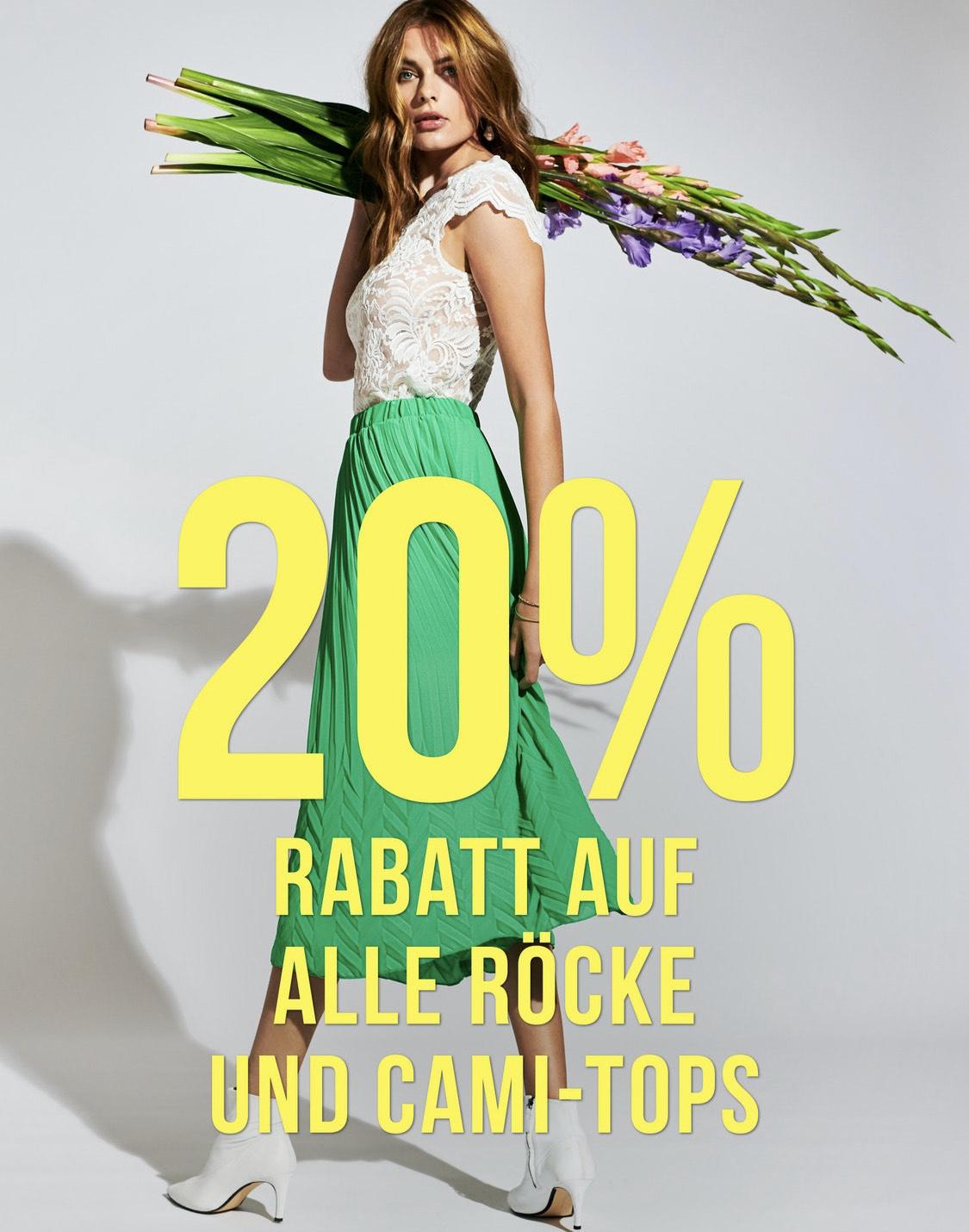 20% auf Cami-Tops und Röcke