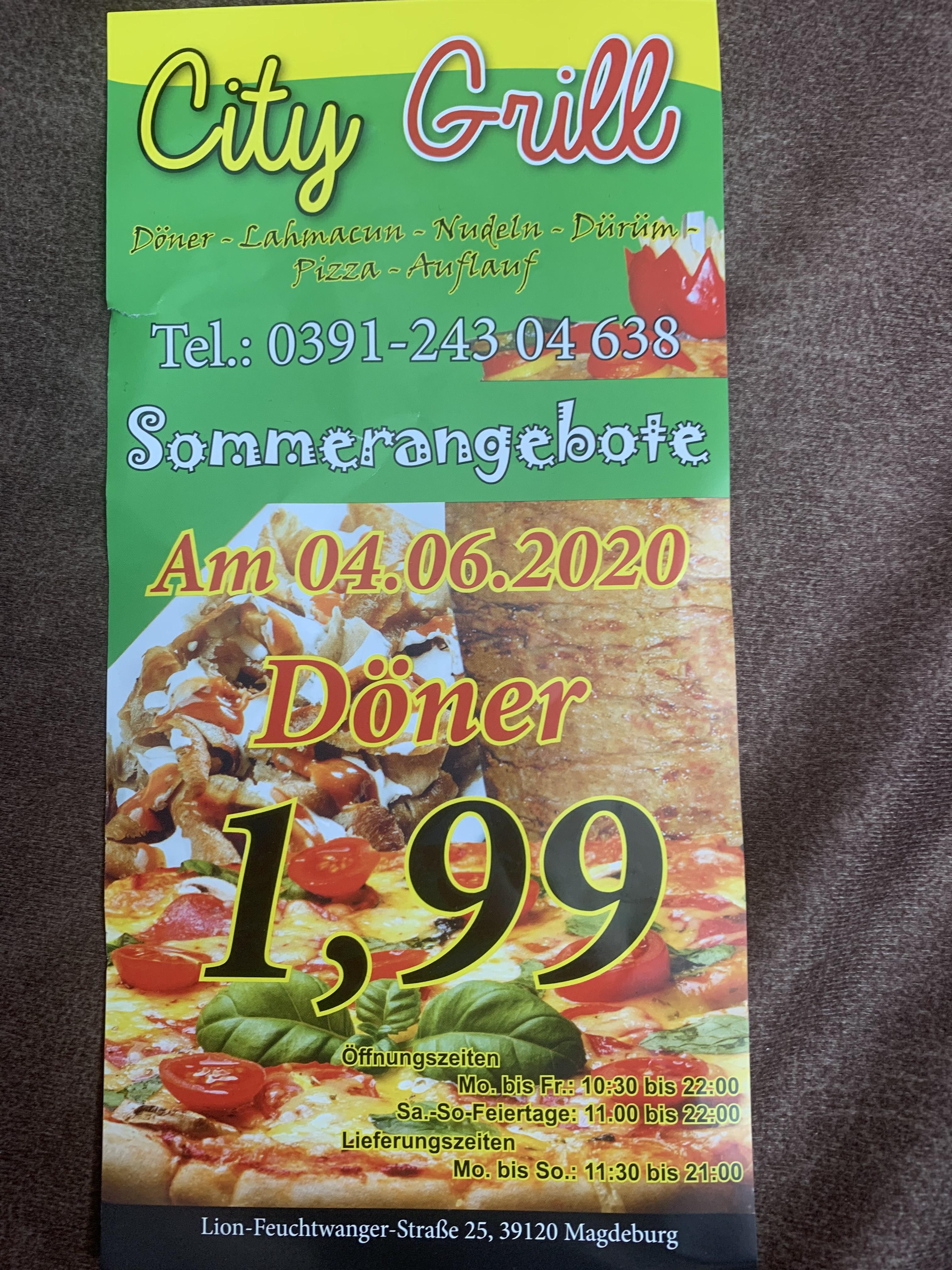 (Lokal) Magdeburg Döner für 1,99€ am 4.06.20