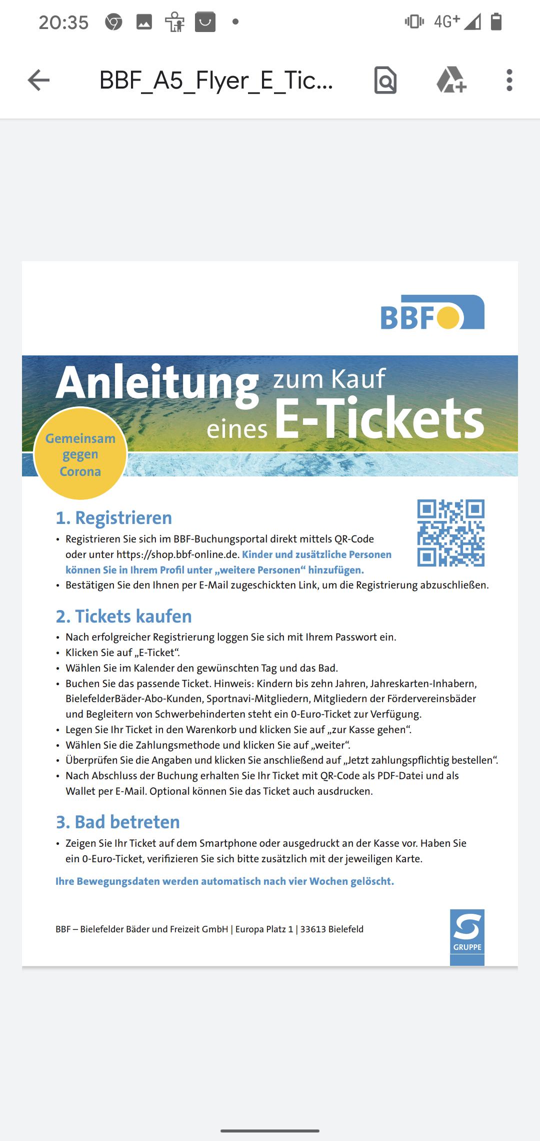 Kostenloser Eintritt u.a für Kinder bis 10 in Bielefelder Freibädern von der BBF