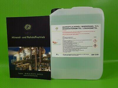 Desinfektionsmittel, Isopropanol 70% im 5l Kanister 4,40€ der Liter, gegen Coronaviren