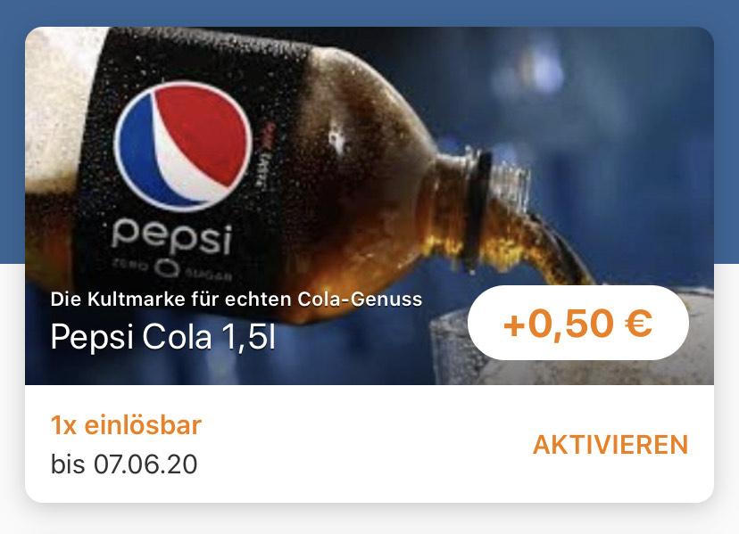 [Reebate] 0,50€ Cashback auf Pepsi - Freebie möglich