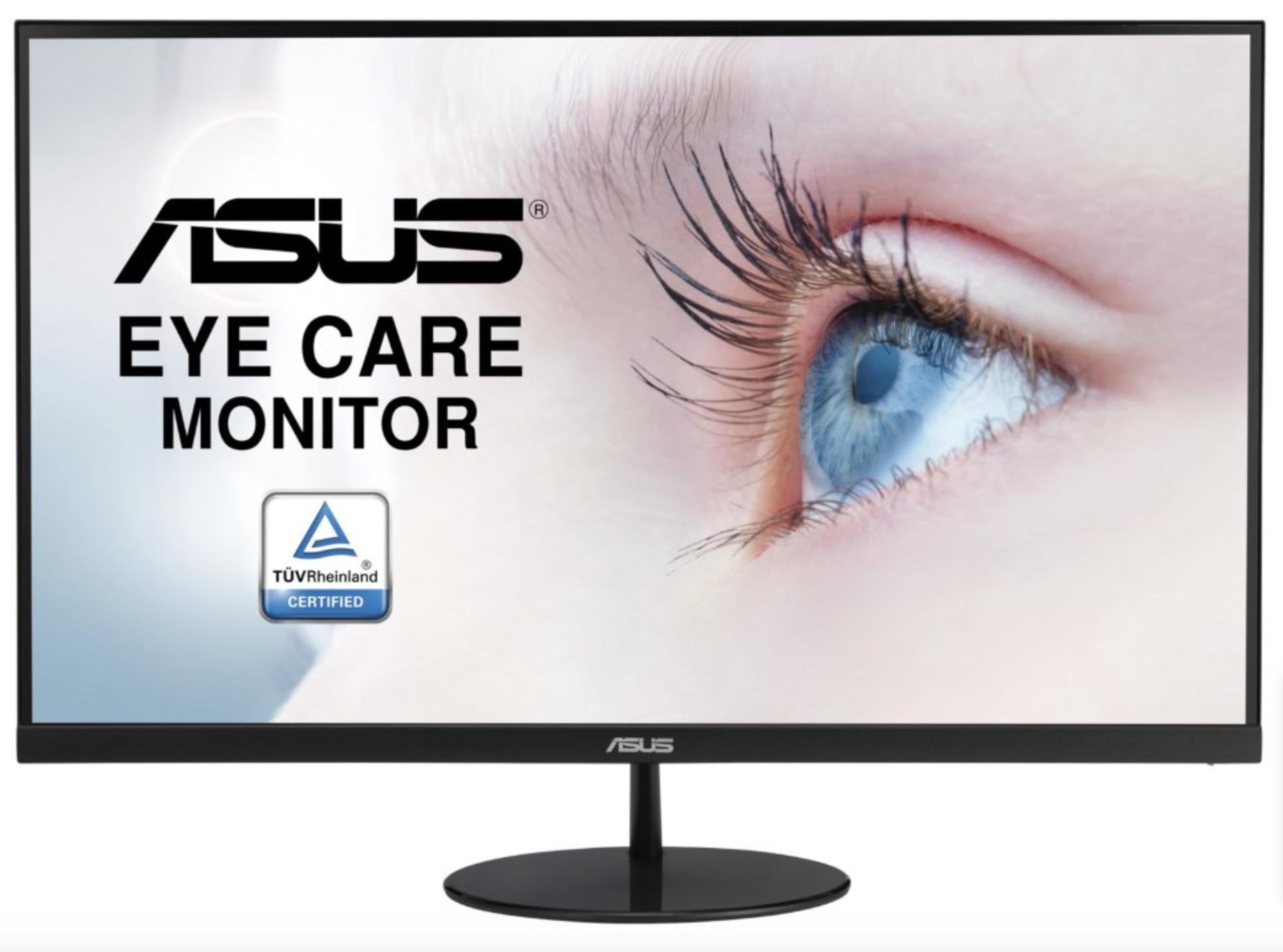 Asus VL279HE 68,6 cm (27 Zoll) EyeCare Monitor (Full HD, IPS, 5ms Reaktionszeit, VGA, HDMI, 75Hz, FreeSync, A+ ) schwarz