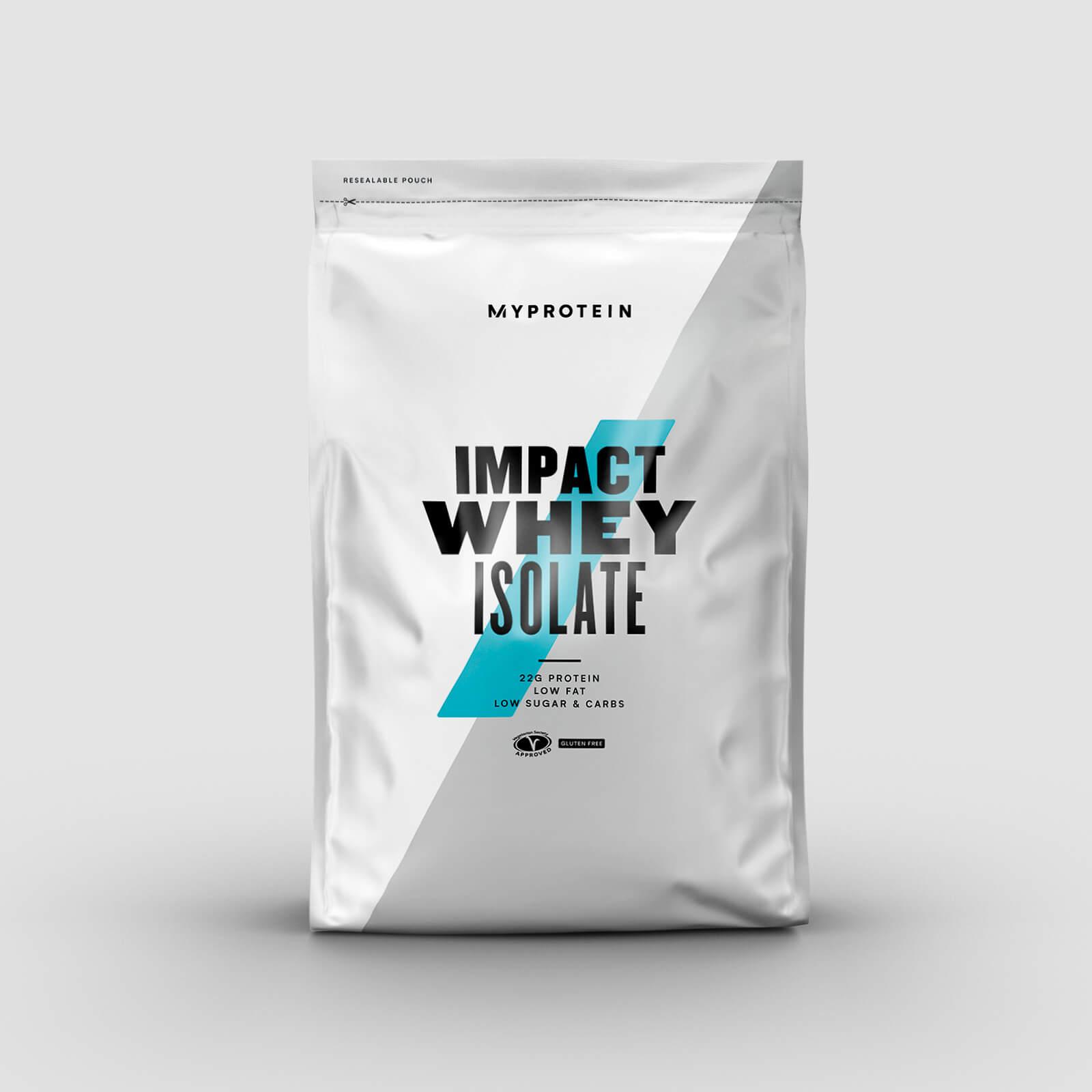 Myprotein UK: 5kg Impact Whey Isolate Blueberry für ~45,76€ (+ Füllartikel für Gratisversand, z.B. 1kg Kreatin + 5kg Instant Oats)