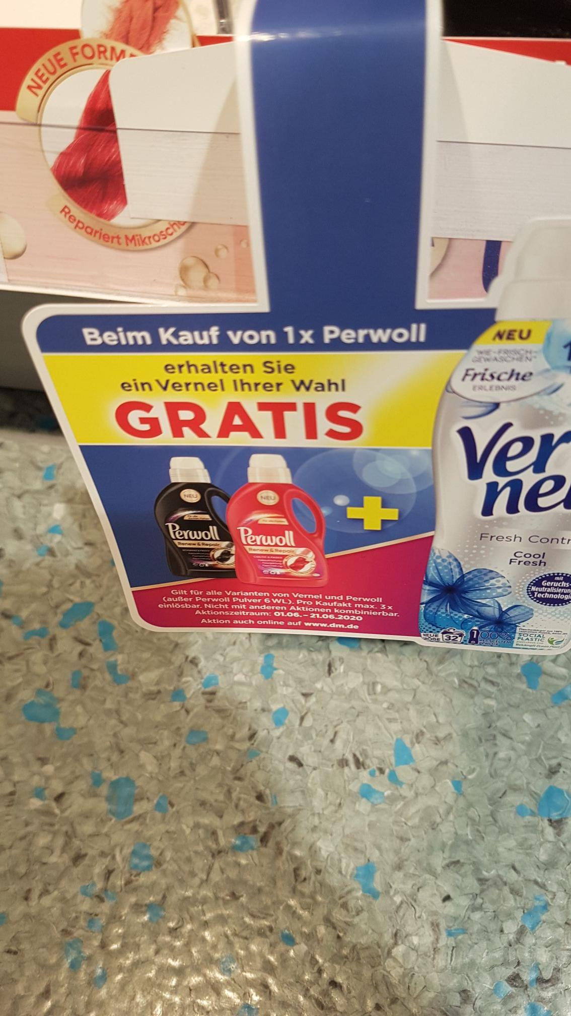 [dm] Vernel gratis bei Kauf von Perwoll, max. 3x pro Kaufakt