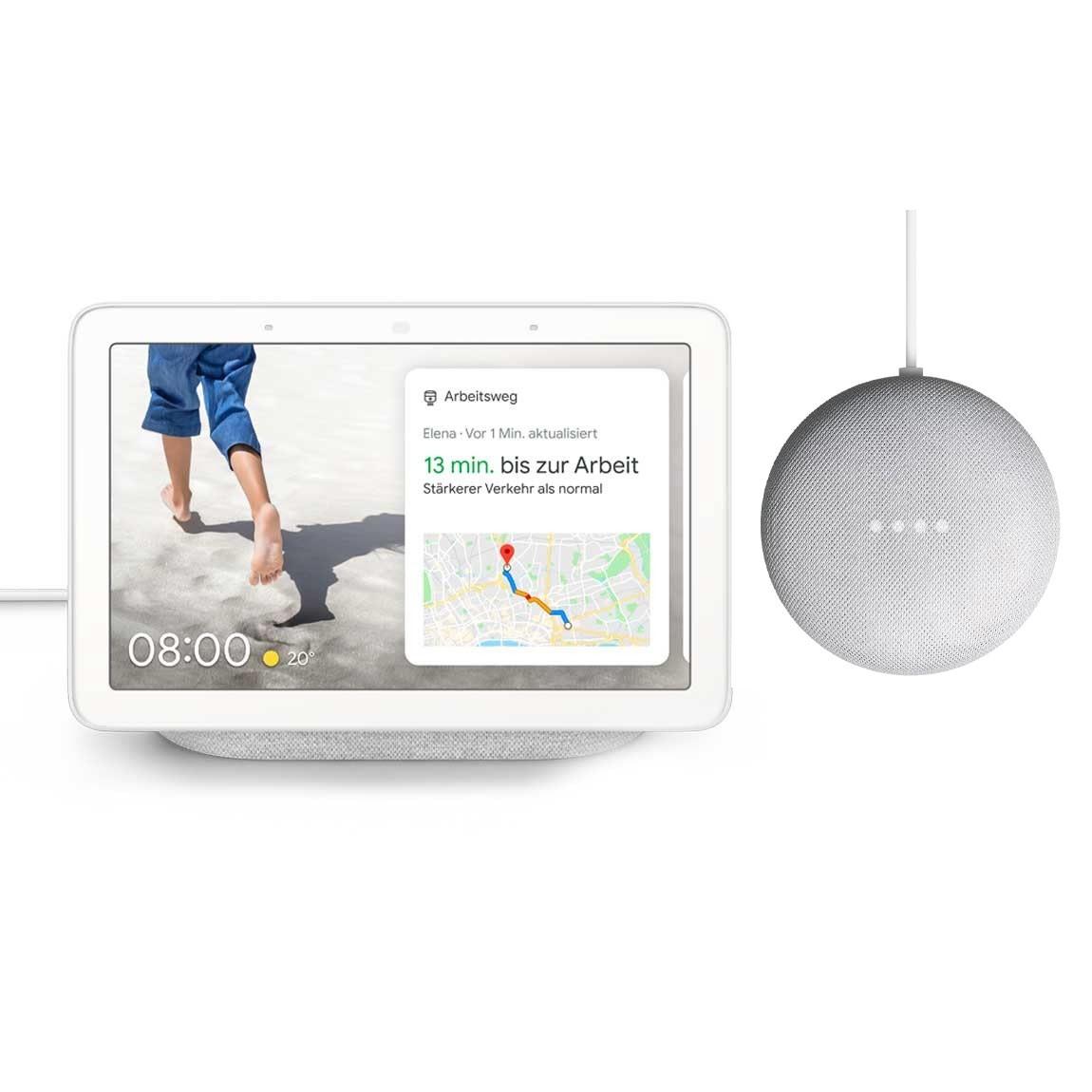 Google Nest Deals bei tink: z.B. Google Nest Hub + Nest Mini - 75,65€ | 2x Nest Mini - 50,15€ | Nest Mini + Hue White E27 Bluetooth - 38,25€