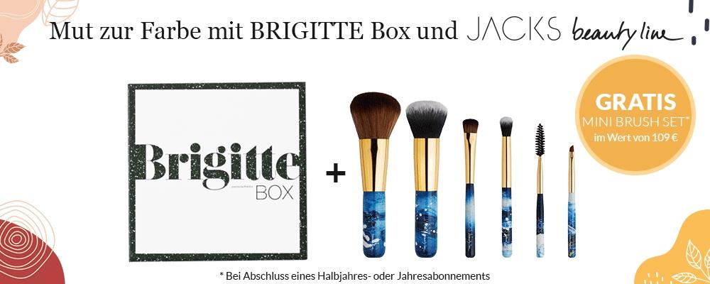 Bei Abschluss eines Brigitte-Box-Abos ein gratis Pinsel-Set von Jacks Beauty Line