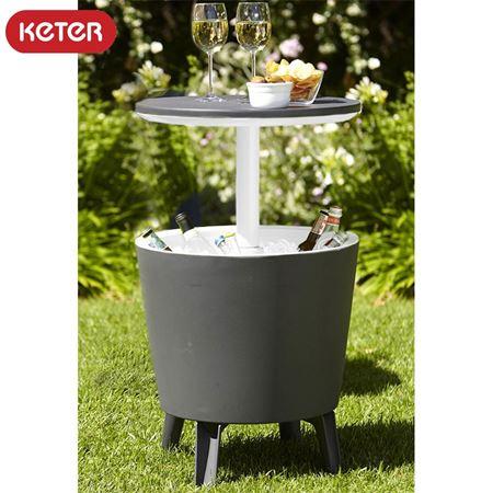 Keter Cool Bar - Anthrazit & Weiß