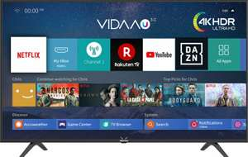 HISENSE H 55 B 7100 LED TV (Flat, 55 Zoll, 138 cm, UHD 4K, SMART TV, VIDAA 3.0)