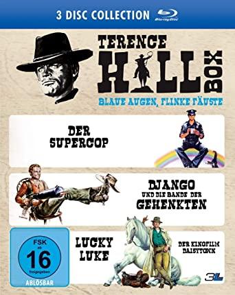 Terence Hill Box - Der Supercop, Lucky Luke, Django und die Bande der Gehenkten (3x Blu-ray) für 9,97€ (Amazon & Dodax)