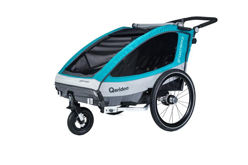 Qeridoo Sportrex2 2019 Kindersportwagen Fahrradanhänger