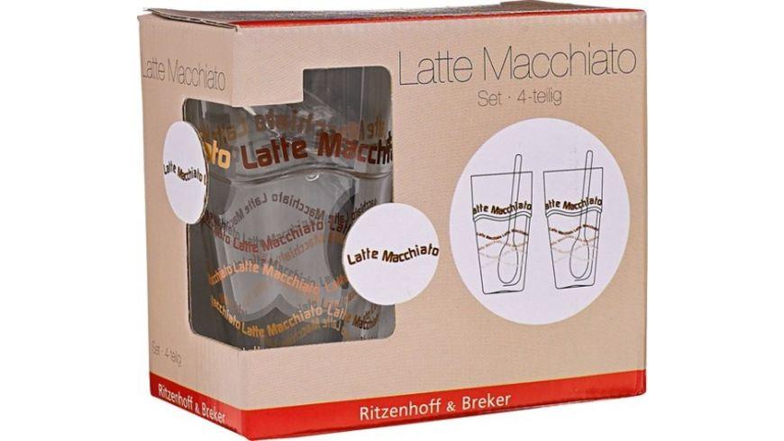 Ritzenhoff & Breker Latte Macchiato Set, 4-tlg. für 5€ (Müller Abholung)