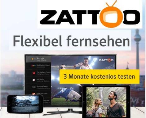 ZATTOO Ultimate 3 Monate Gratis (für gmx-Kunden)
