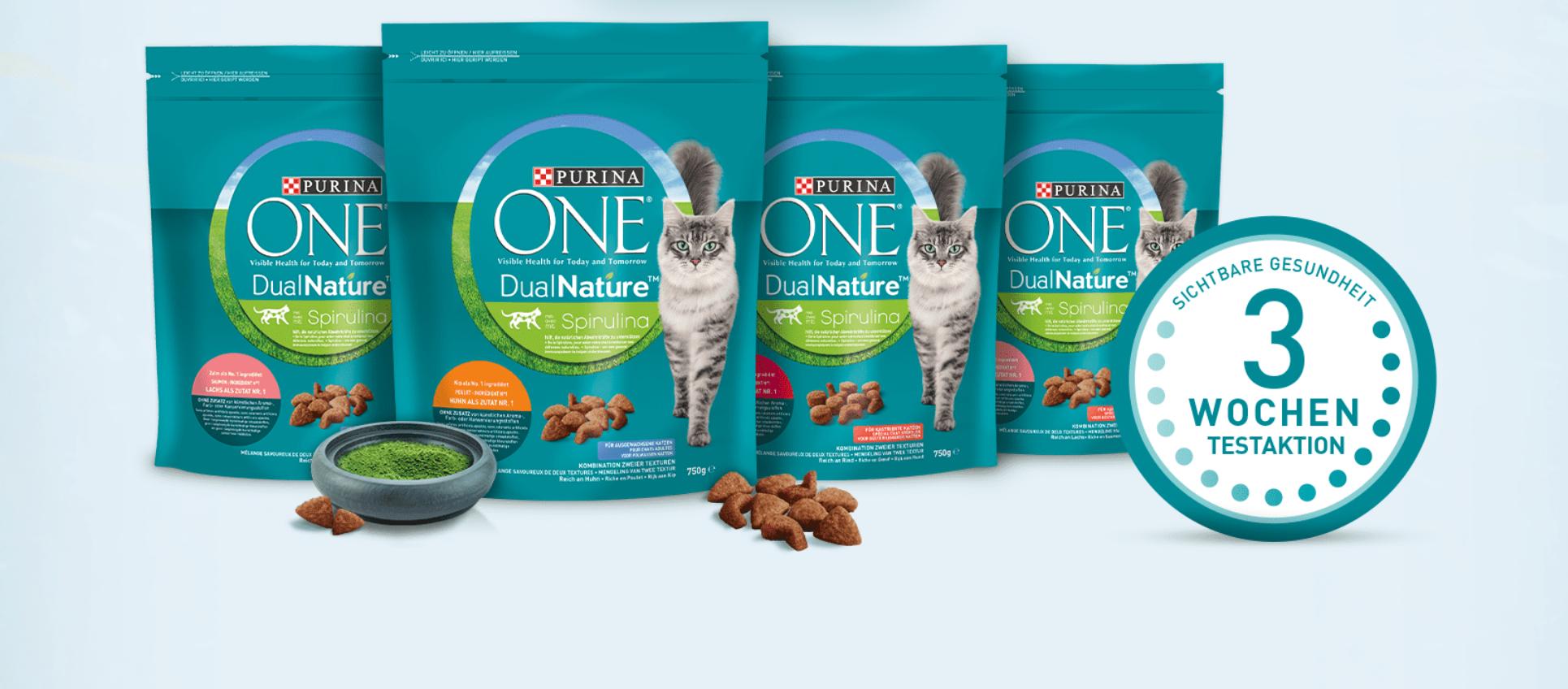 [Purina] GRATIS Katzenfutter (800g): Purina ONE 3-Wochen-Testaktion + Überraschungspaket