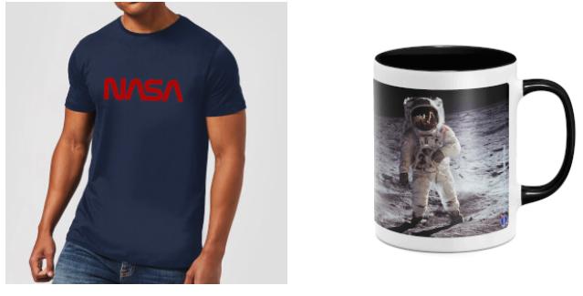 Bundle aus 1x NASA T-Shirt ( 13 zur Auswahl, Damen, Herren oder Kids) und 1x NASA Tasse (4 zur Auswahl) für 9,99€ plus 3,49€ Versand
