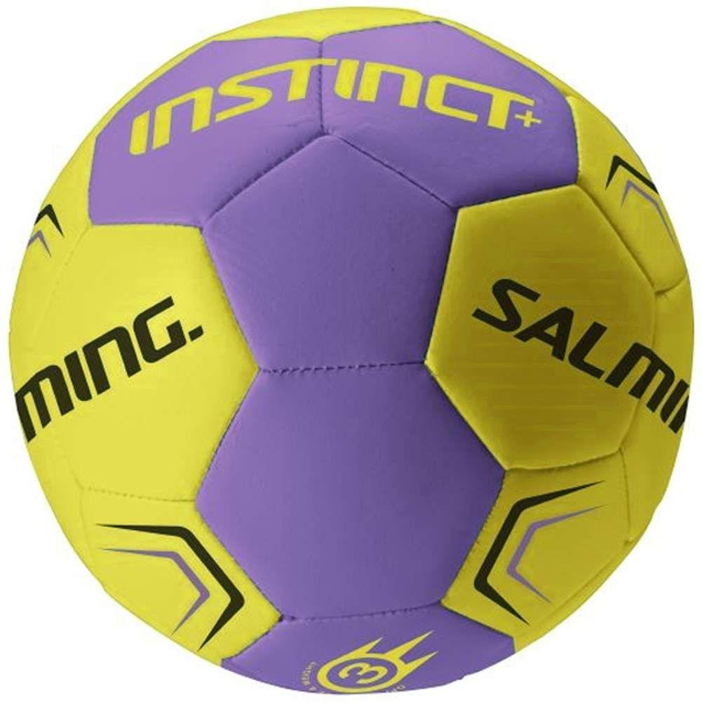Salming Instinct Plus Handball Größe 2 und 3, Farbe Lila/Gelb, SportSpar
