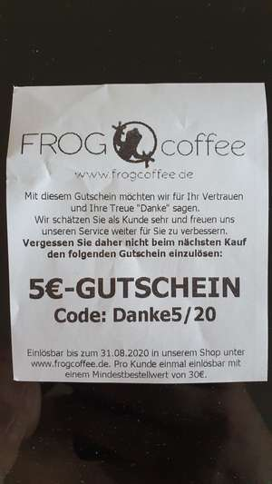 5€ bei FROG coffee