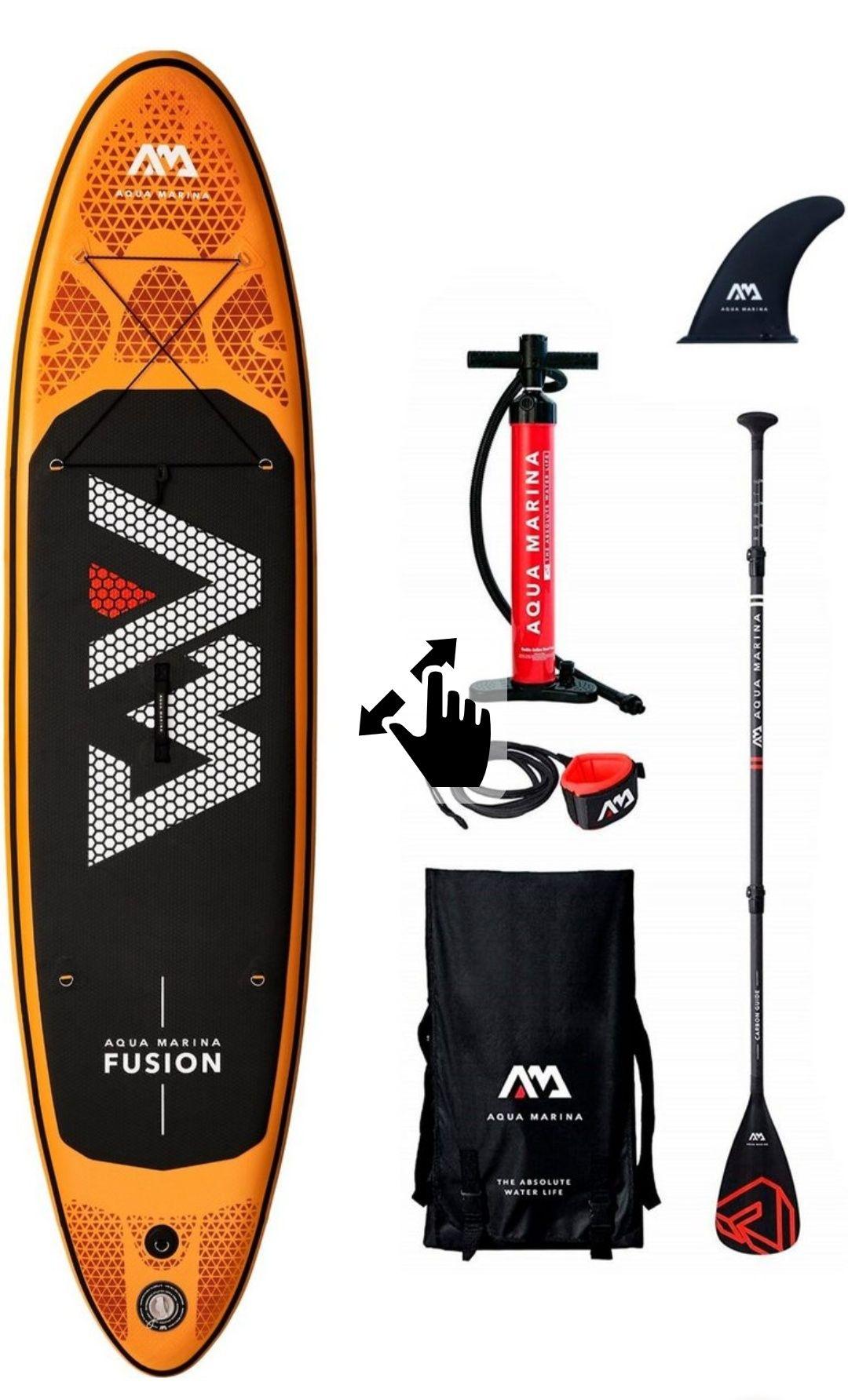 Aqua Marina Inflatable SUP-Board »Fusion«, (Set, mit Paddel, Pumpe und Transportrucksack) + Geschenk