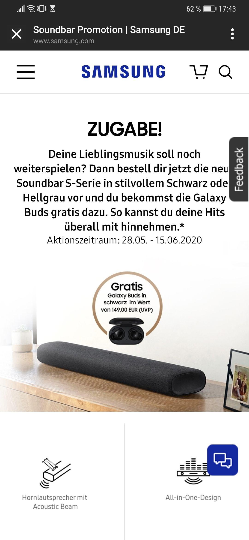 Samsung Soundbar HW-S61T + Galaxy Buds