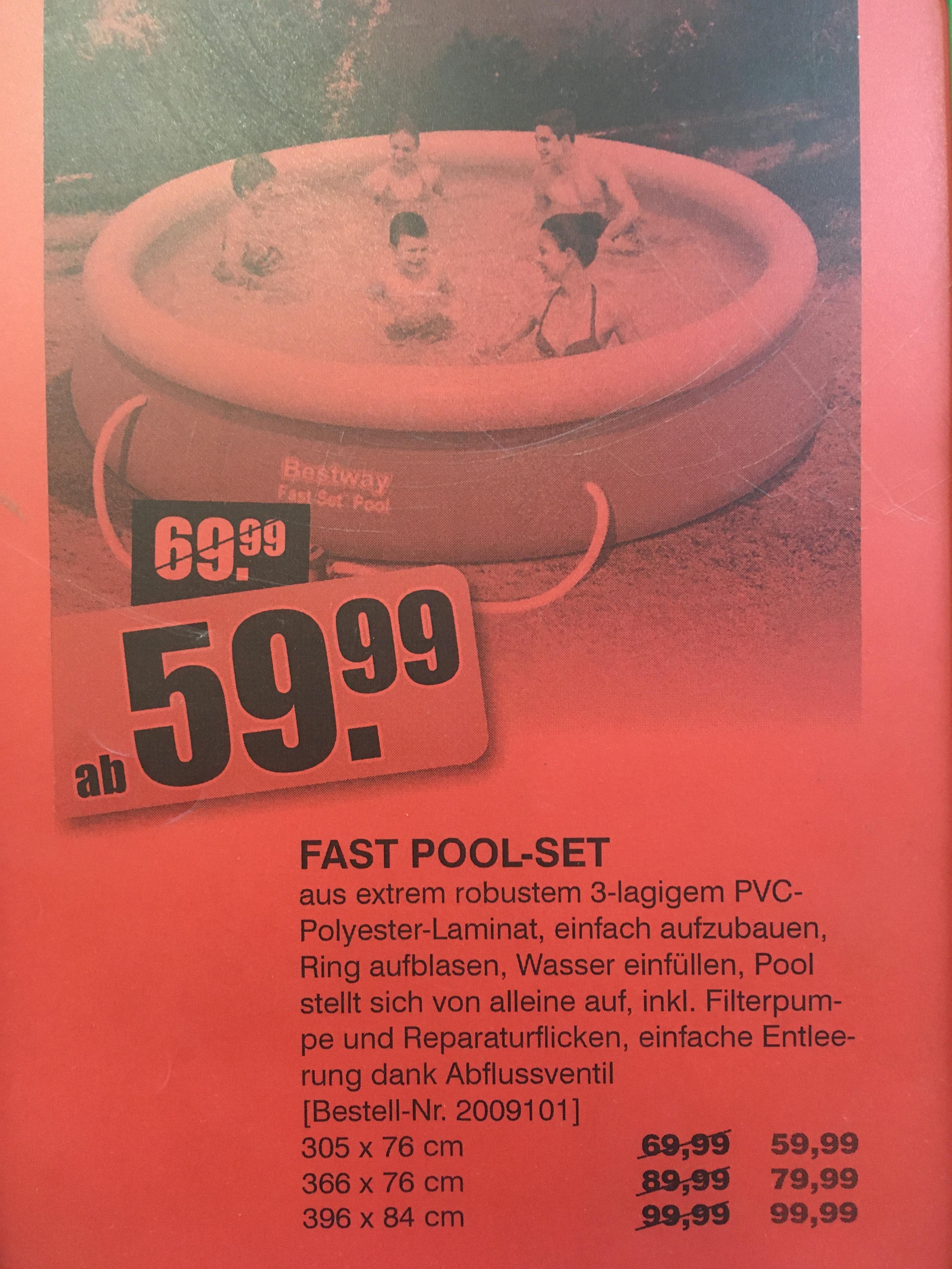 Bestway Pool Set versch. Größen 305 366 396cm