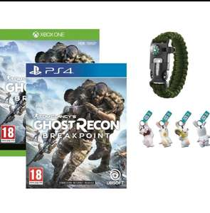 Ghost Recon : Breakpoint für PS4 & Xbox One + Ghost Recon Survival-Armband+ 4 Raving Rabbits LED Schlüsselanhänger