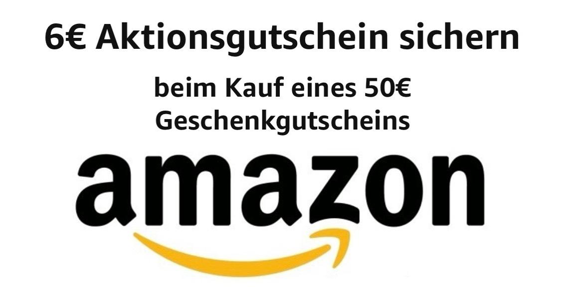 Bei 80€ Aufladung - 6€ Aktionsgutschein Amazon