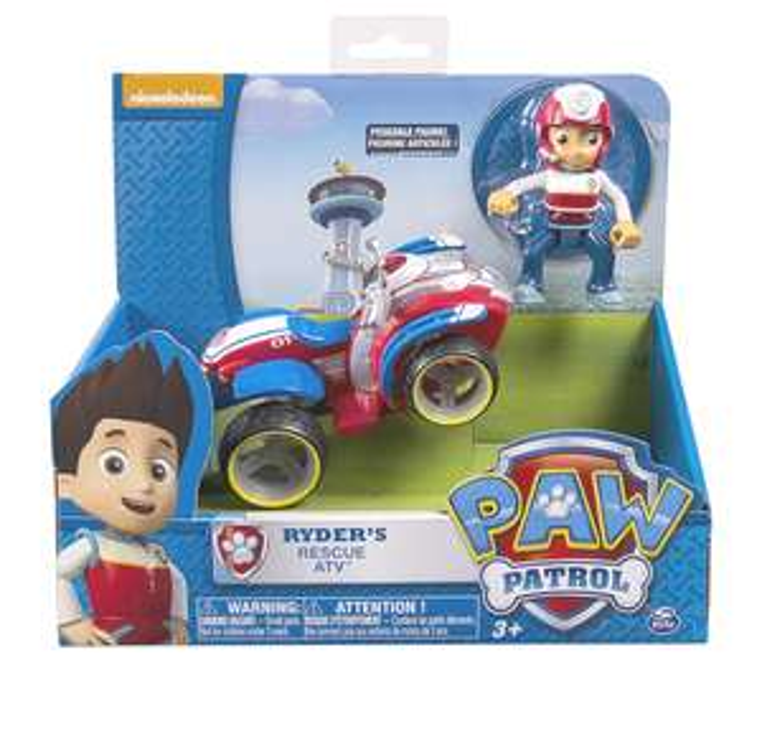 "PAW PATROL Fahrzeug und Figur ""Ryder"" Rescue ATV Prime"