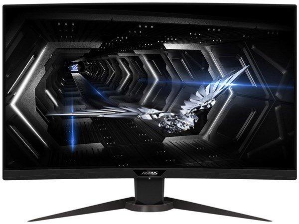 """Gigabyte Aorus CV27Q (27"""", VA, Curved, WQHD, 165Hz, FreeSync Premium Pro, HDR @ 400cd/m², 8bit, 2x HDMI 2.0, DP 1.2, 2x USB3, höhenvers.)"""