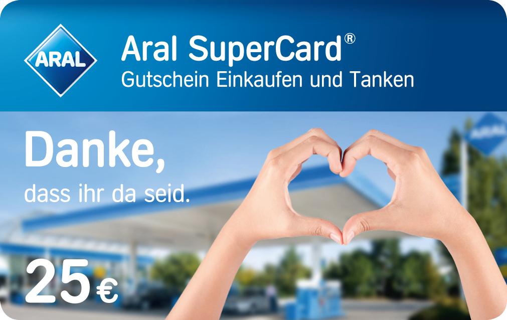 [Aral] 25€ SuperCard zum Tanken geschenkt für alle Reinigungskräfte in öffentlichen Einrichtungen