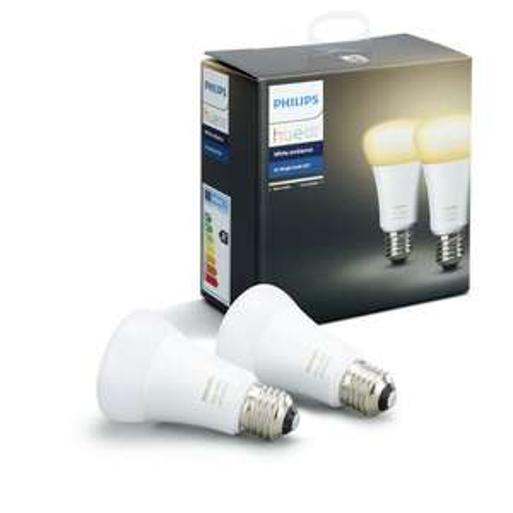 Philips Hue White Ambiance LED E27 9,5W Doppelpack