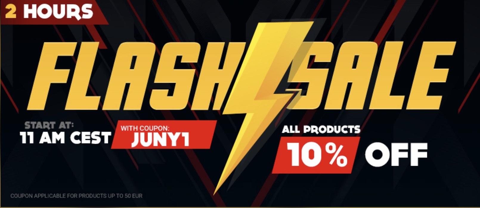 Flash Sale bei Gamivo 10% Rabatt auf alles bis 50€ z.B. PSN Guthaben (50€ für 38,86€), Steam Guthaben (50€ für 41,06€), Games etc.