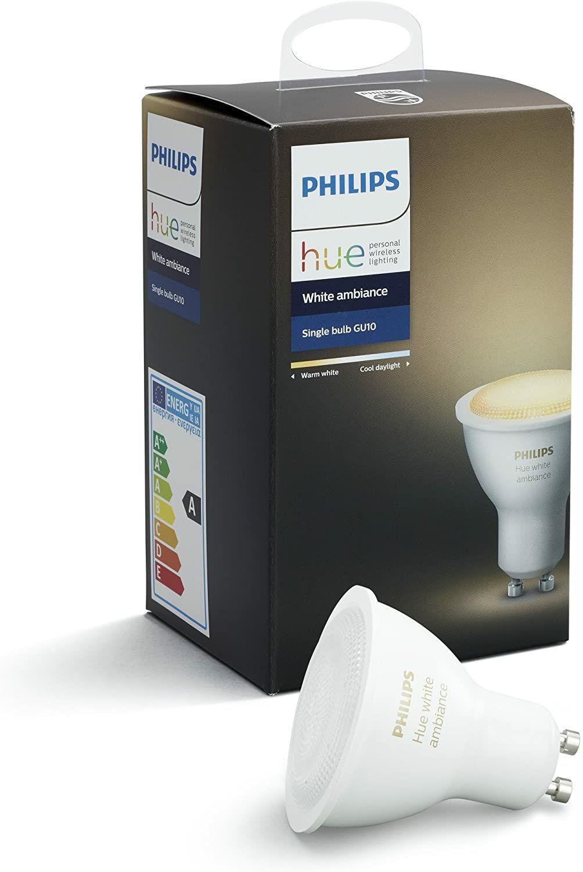Philips Hue White Ambiance GU10 LED Spot (Amazon.it)