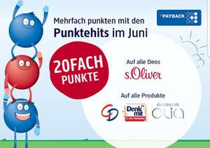 [dm] Punktehits im Juni, 20-fach Payback Punkte OHNE Coupon
