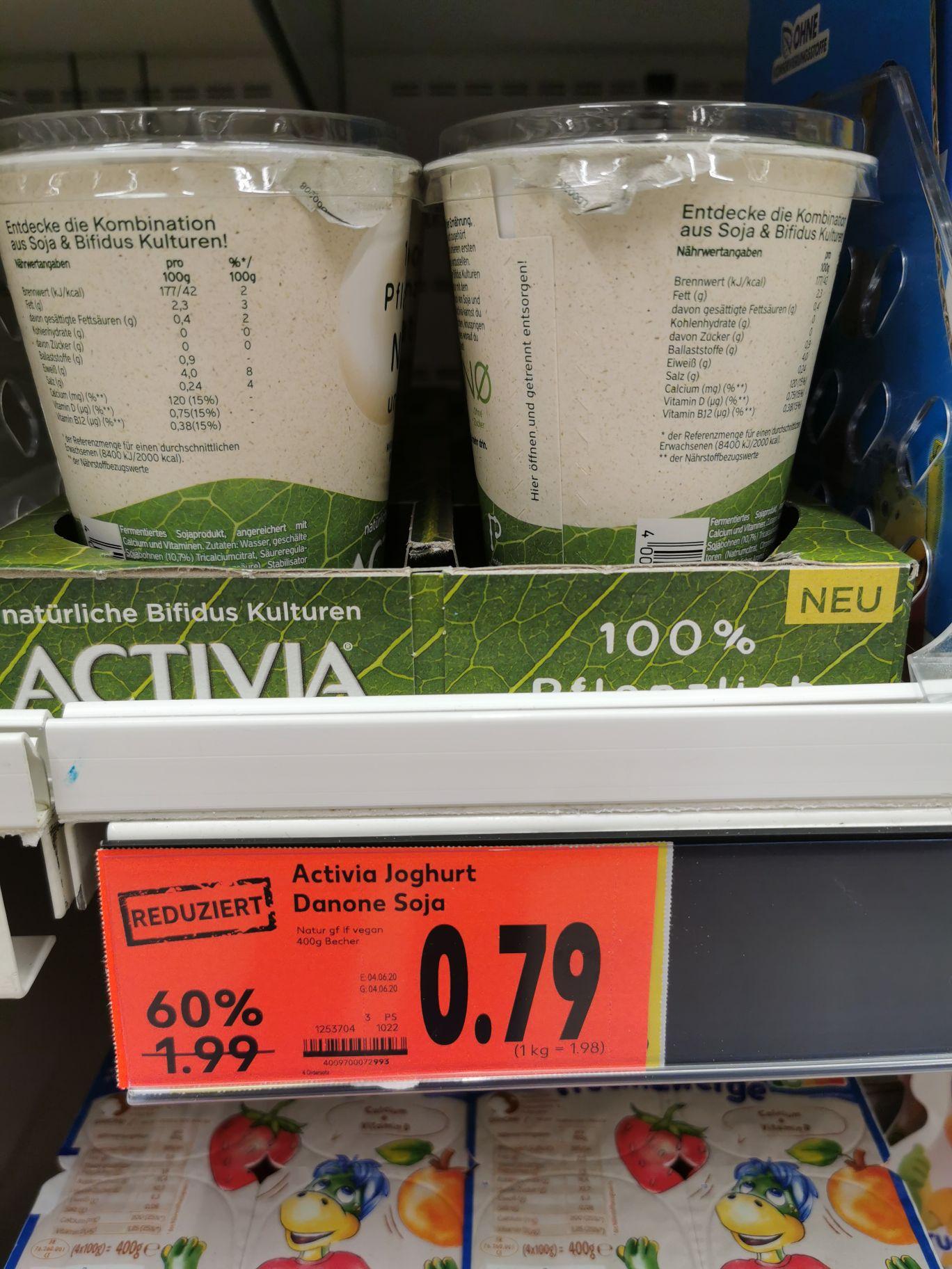 [Lokal Kaufland Kreuztal] 400g Becher Activia Joghurt Danone Soja für 0,79 statt 1,99