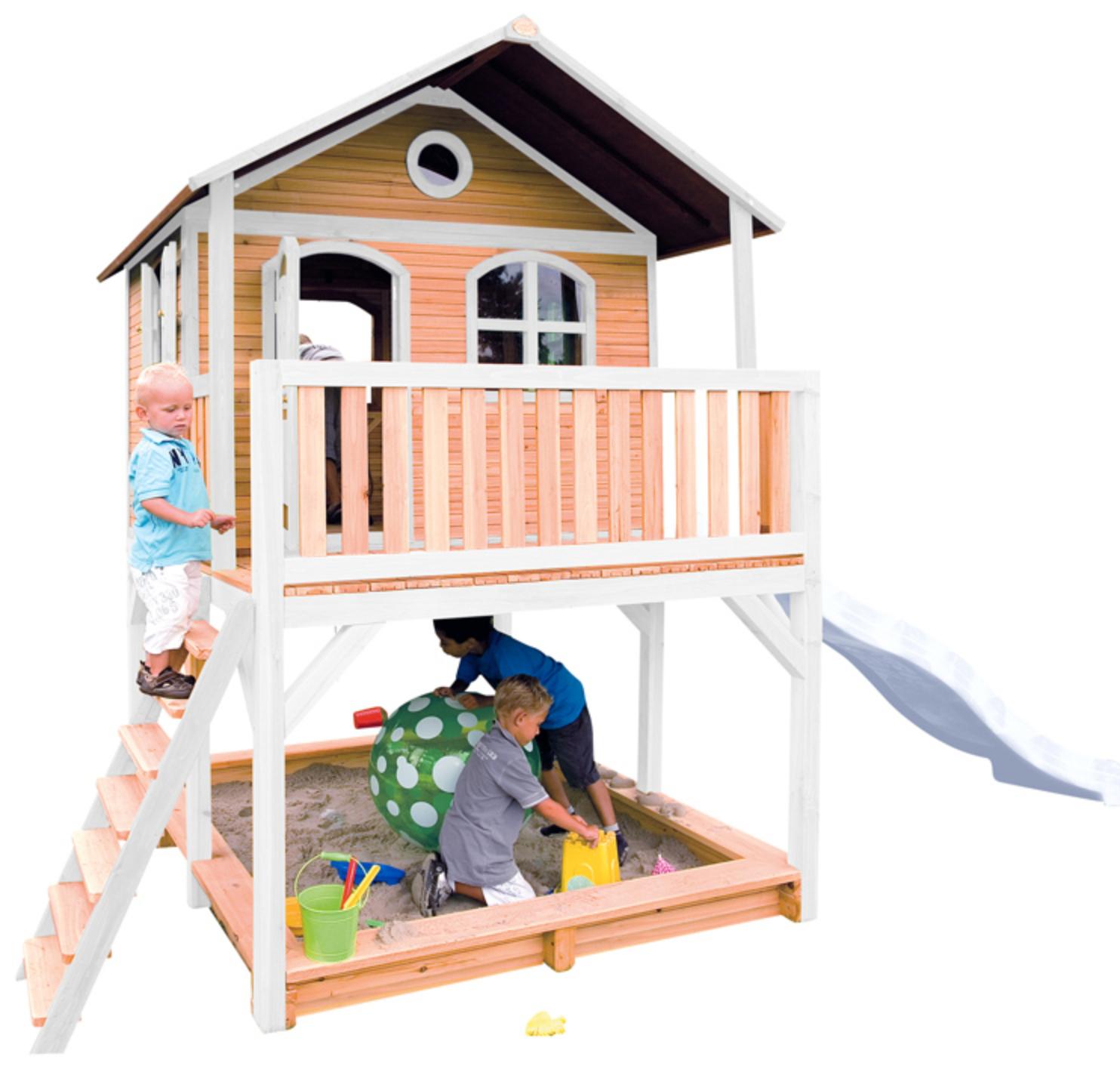 Spielhaus Marc mit Leiter, Rutsche und Sandkasten