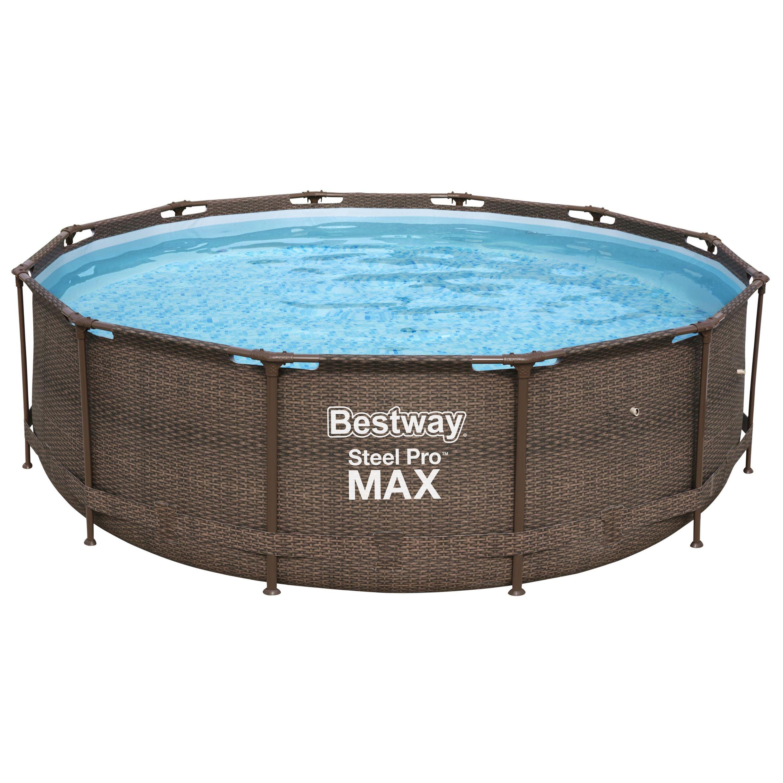 Bestway® Ersatzpool Steel Pro Max™ Framepool / Aufstellbecken ohne Zubehör, rund, 366x100 cm