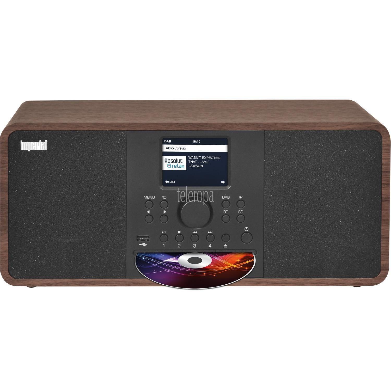 Imperial Dabman i205 CD (2x 15W, DAB+, UKW, CD, Bluetooth 5.0, WLAN, LAN, Internetradio, 8 Musikstreaming-Dienste, UPnP/DLNA, AUX, USB, App)