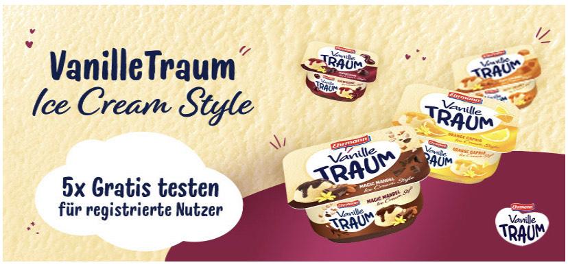 5x Ehrmann Vanille Traum Ice Cream Style kostenlos