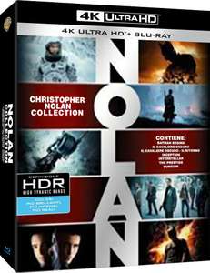 Christopher Nolan Collection 4K 19 Discs (7 Blu-Ray 4K UHD + 7 Blu-Ray + 5 DVD) für 44.05€ (Amazon.es)