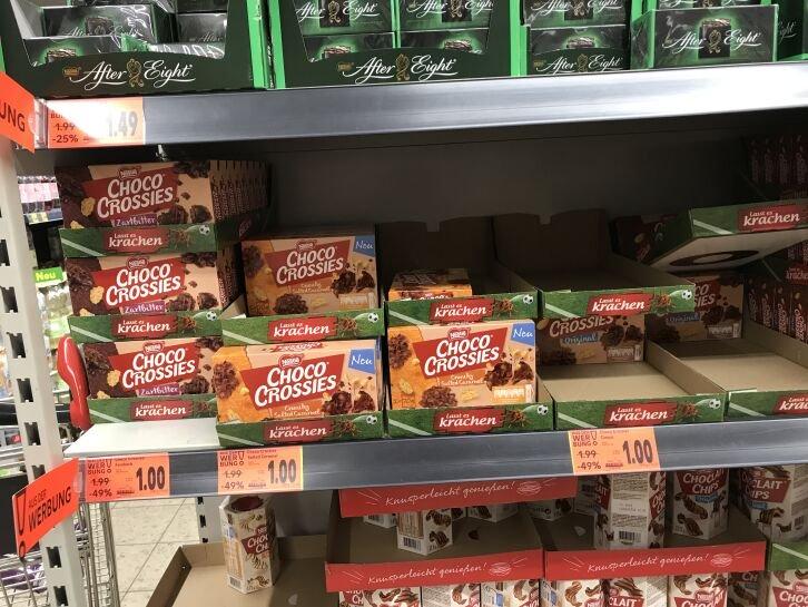 [Bundesweit im Kaufland] Nestle Choco Crossies in verschiedenen Sorten für 1€