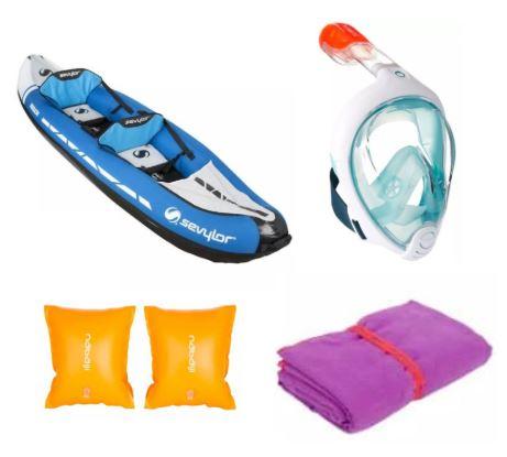 Decathlon Wassersport- bzw. Badespaß-Übersicht KW23, zB Sevylor aufblasbares Kajak 2-Sitzer