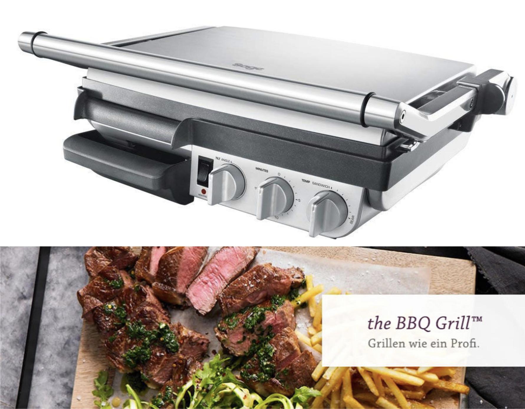 Sage The BBQ SGR800 Grill Kontaktgrill 2400 W für 139,99€ inkl. Versandkosten