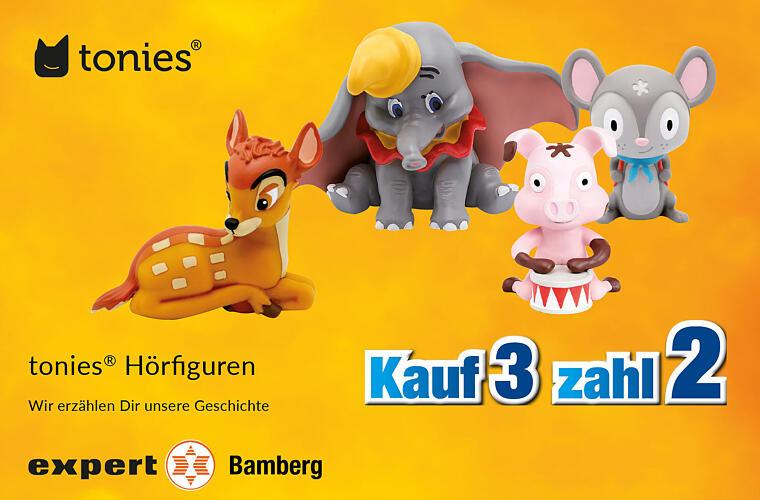 "Tonies: ""Kauf 3, zahl 2"" bei expert Bamberg"