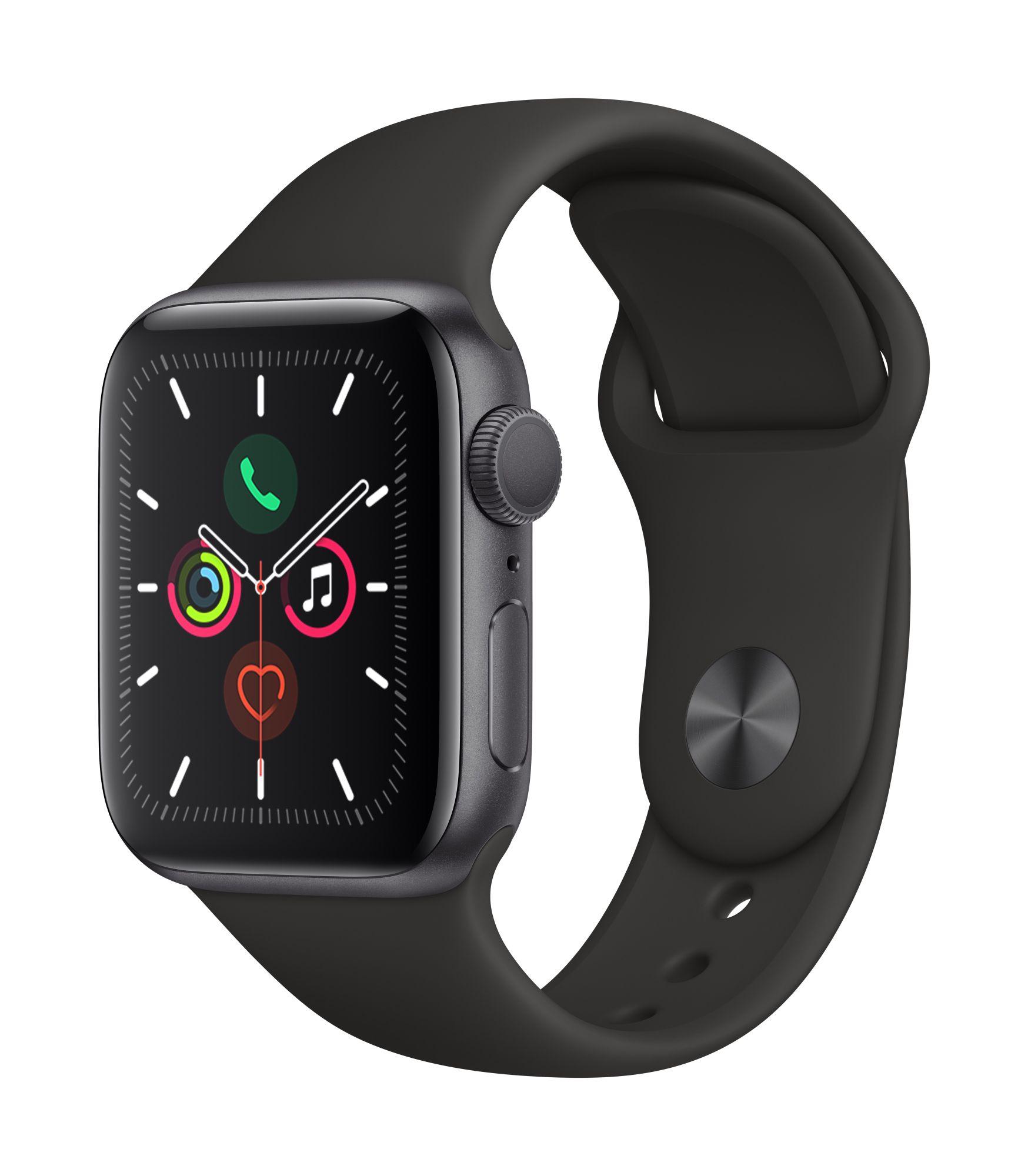 Apple Watch Series 5: Smartwatch (GPS, 40mm, Aluminium, Grau)   Import mit Apple Garantie