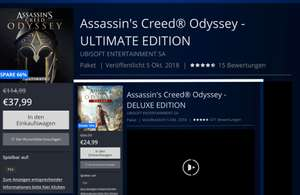 Assassin's Creed Odyssey Ultimate - und Deluxe Edtion(24,99€)