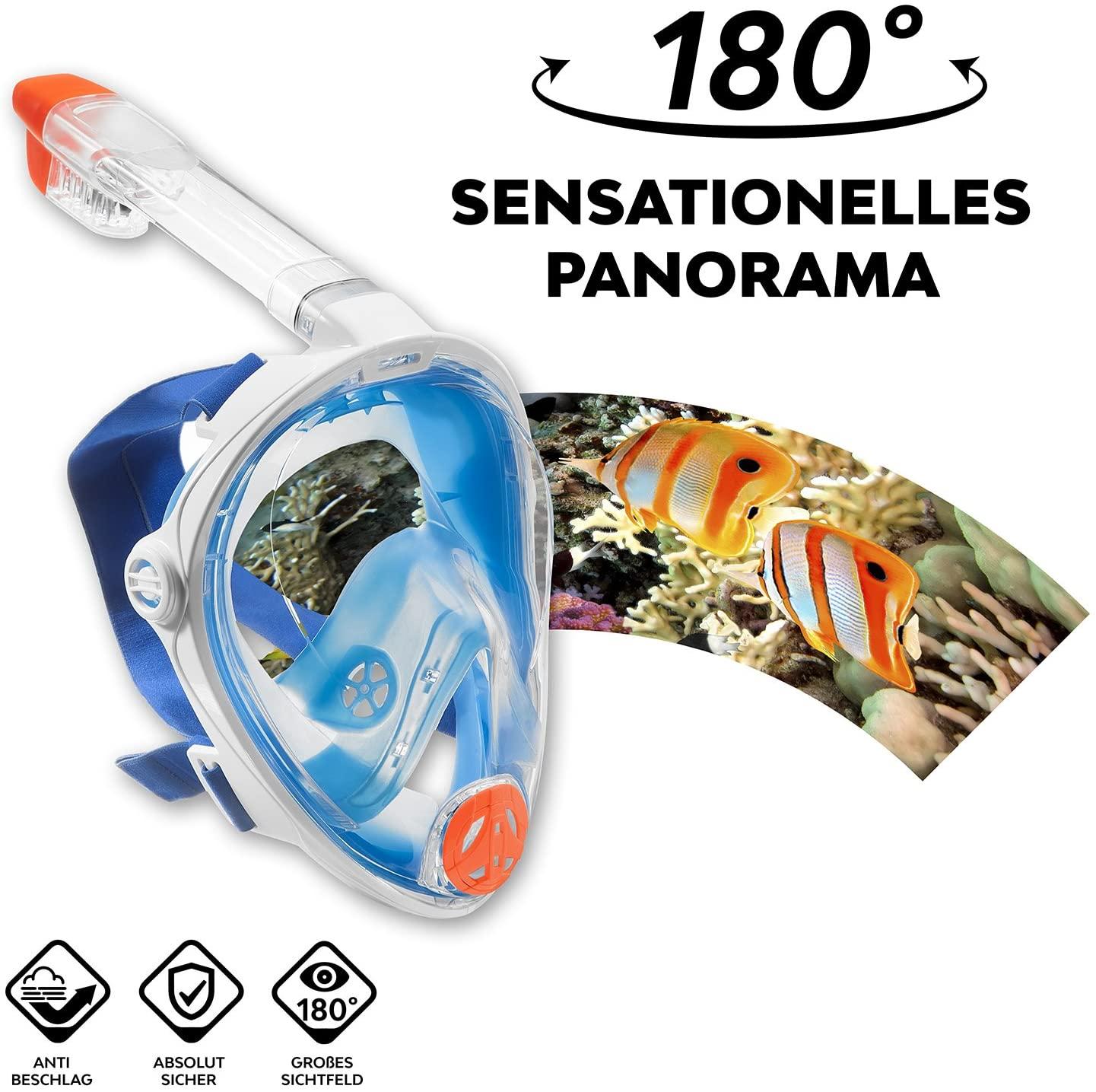Aqua Lung Schnorchelmaske La Costa Easy Dive Deluxe (Gr. S/M) für 11,99€
