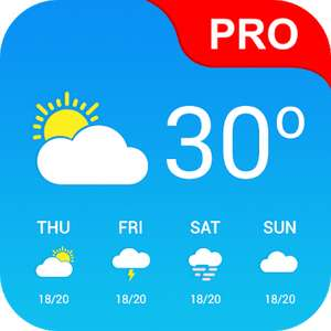 KOSTENLOS Android App : Weather App Pro (4.9*) - Google Play